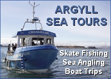 Argyll Sea Tours - skate fishing, sea angling, boat trips