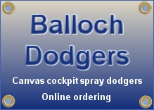 Balloch Dodgers - Custom made cockpit spray dodgers